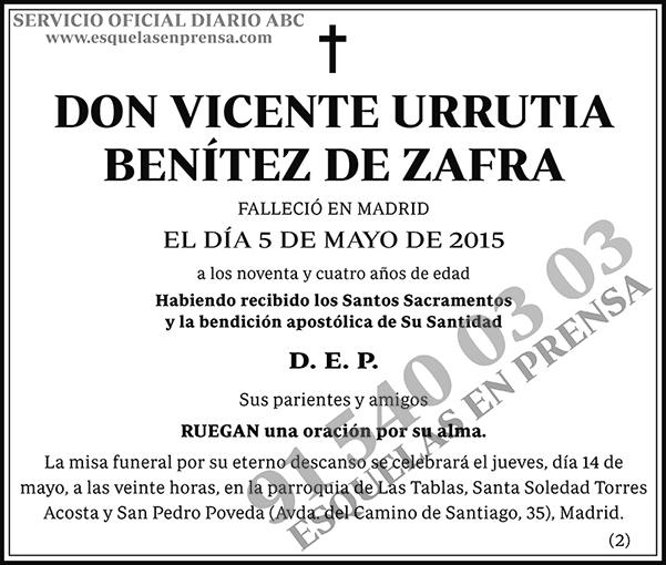 Vicente Urrutia Benítez de Zafra